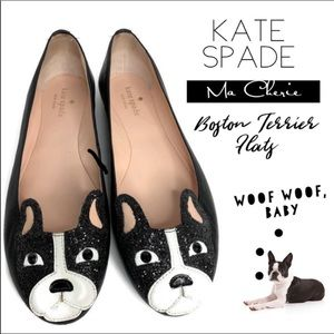 🆕 Kate Spade French Bulldog Boston Terrier Flats